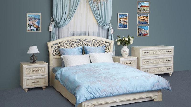 Спальня Александрия - кровать с подъёмным механизмом