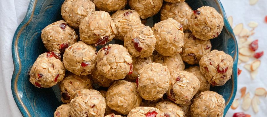 Cranberry Almond Protein Bites
