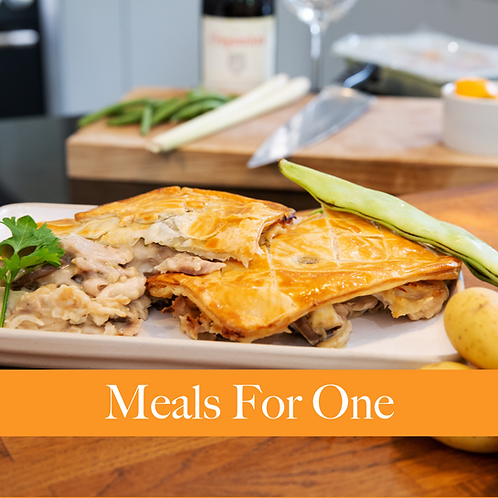 Meals For One - Chicken, Mushroom and Cider Pie
