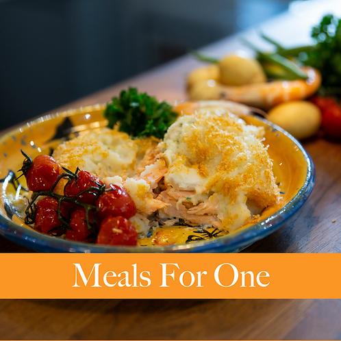 Meals For One - Luxury Fish and King Prawn Pie