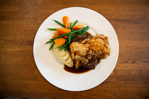 Steak, Mushroom and Pilgrim Ale Pie