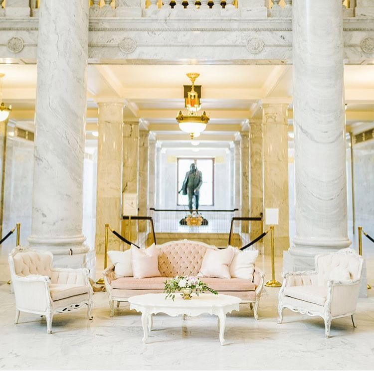 Princess Diana Lounge area at the Utah State Capitol Building
