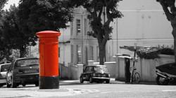 Roter Briefkasten