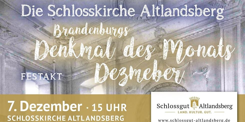 Denkmal des Monats Dezember: Die Schlosskirche