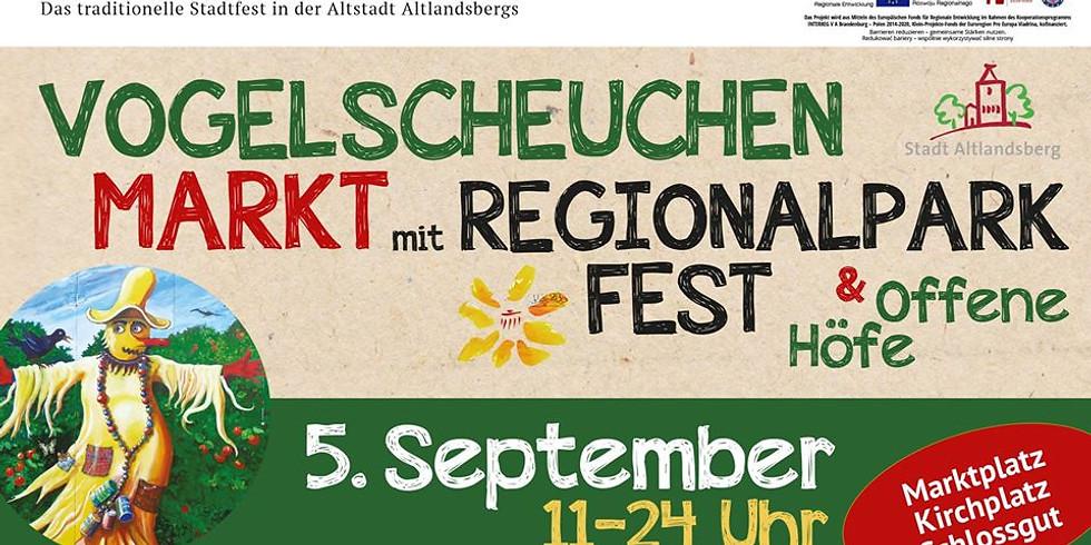Vogelscheuchenmarkt mit Regionalparkfest