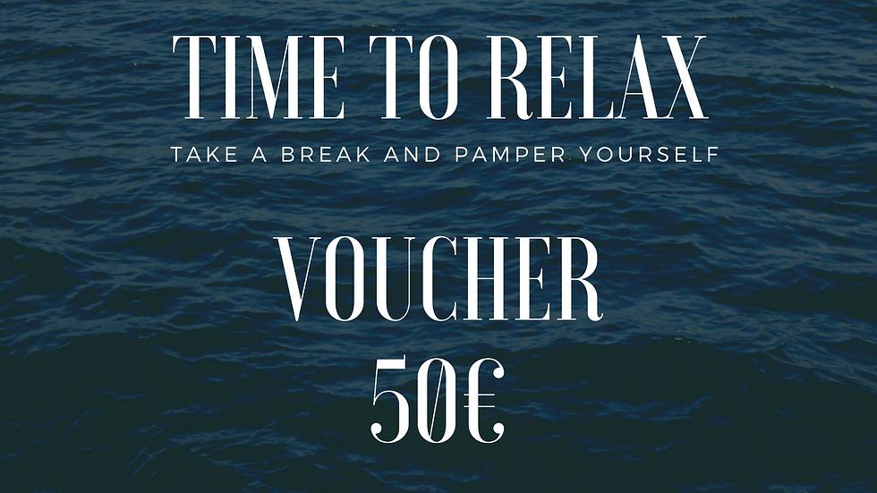 PAMPER YOURSELF | VOUCHER 50€