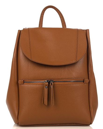 Sac cuir | AniBags | First Lady Firenze | cuir souple | sac à dos | tirette | fermeture rabats | pression | bandoulière