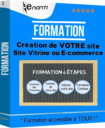 Formation individuelle site vitrine ou e.commerce