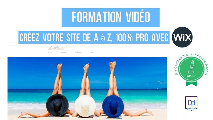 """""""Votre site de A à Z, 100% Pro avec Wix"""" Formation vidéo"""