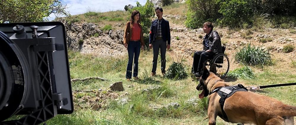 Christophe Debono, dresseur animalier, participe à la série sur France2: CAÏN