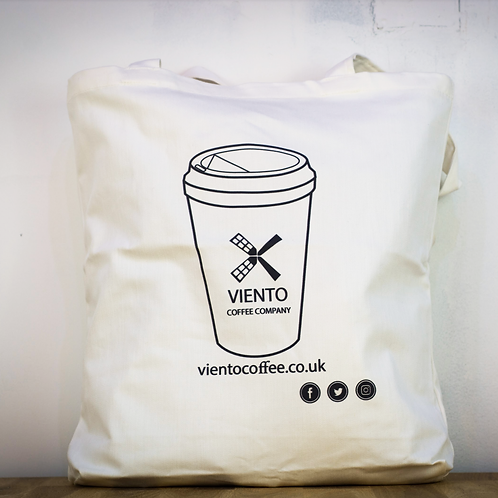 Viento Tote Bag – Coffee cup design