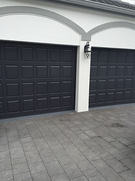 Navy Garage Door