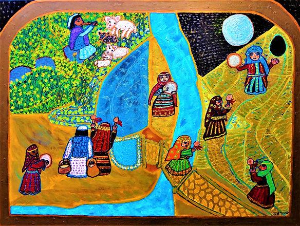 ceremonia da lua cheia na terra ancestra