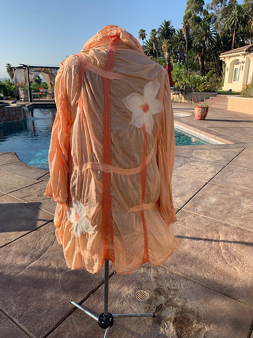 Hand dyed felted silk jacket