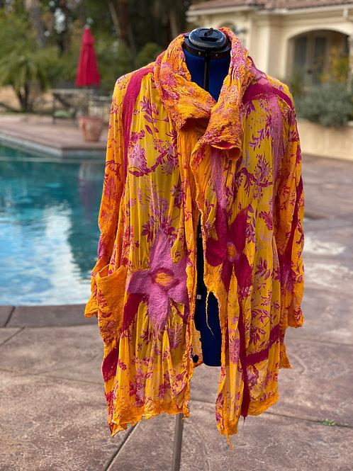 Silk felted Jacket