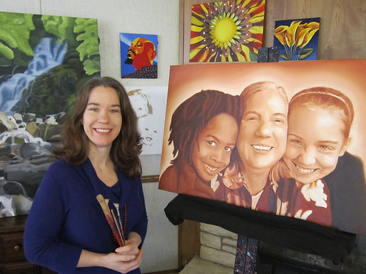 Kirina Knight oil acrylic portrait artist oxford taylor ms heirloom painting mississippi portraits art teacher communiversity