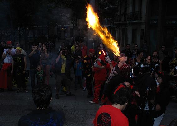 Diable Vall del Corb escopint foc