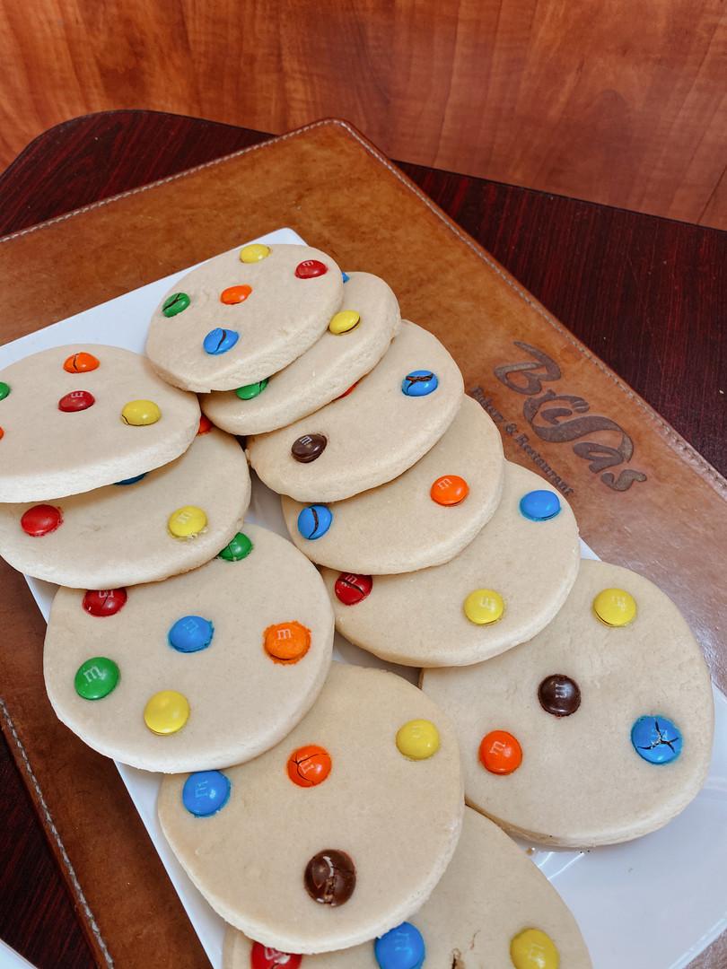 galletas de m&ms