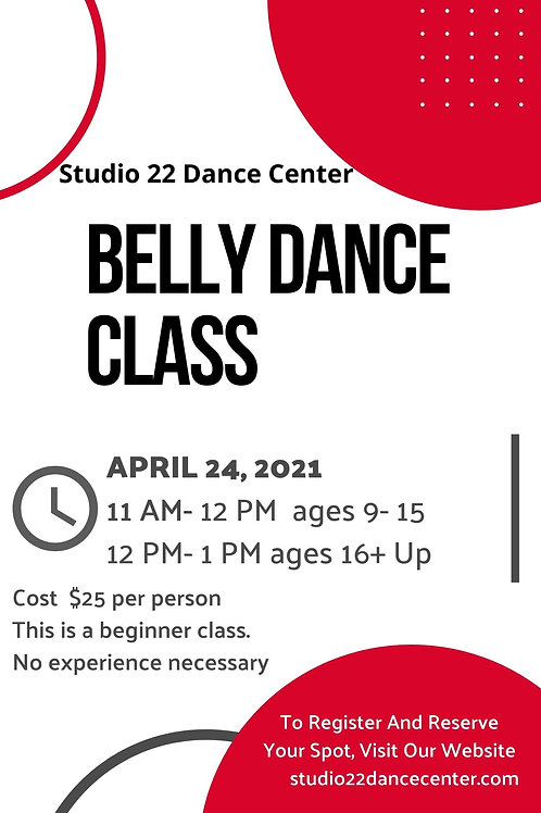 Belly Dance Class (Ages 9-15)