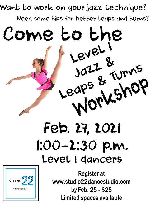 Level 1 Jazz/Leaps & Turns