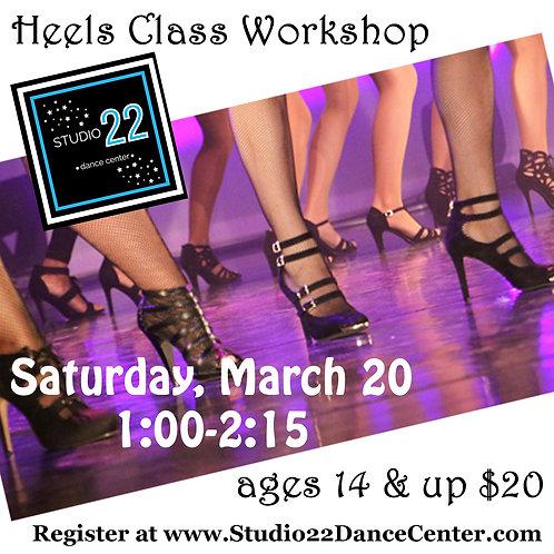 Heels Workshop - ages 14+
