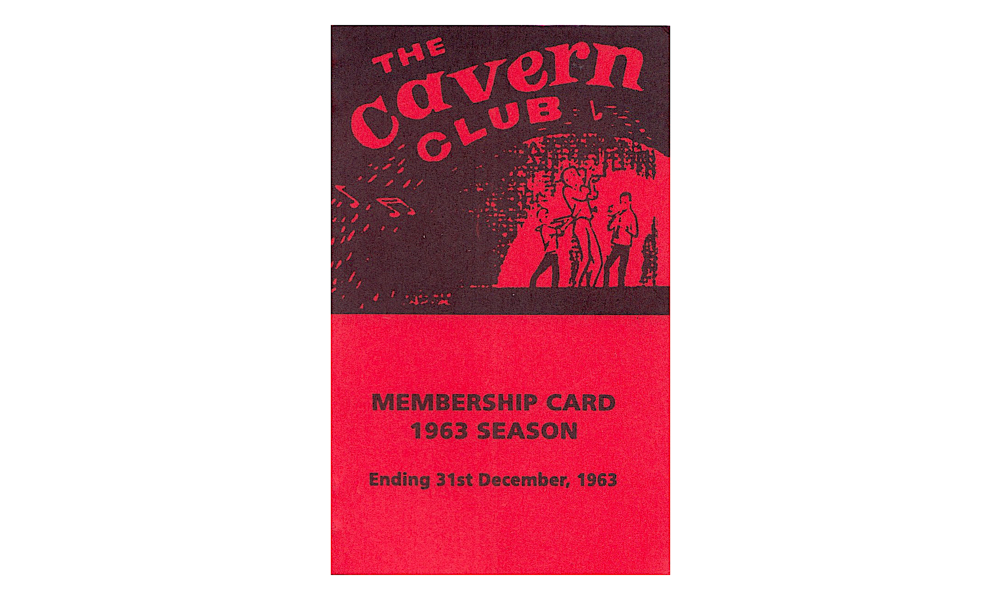 beatles cavern club card