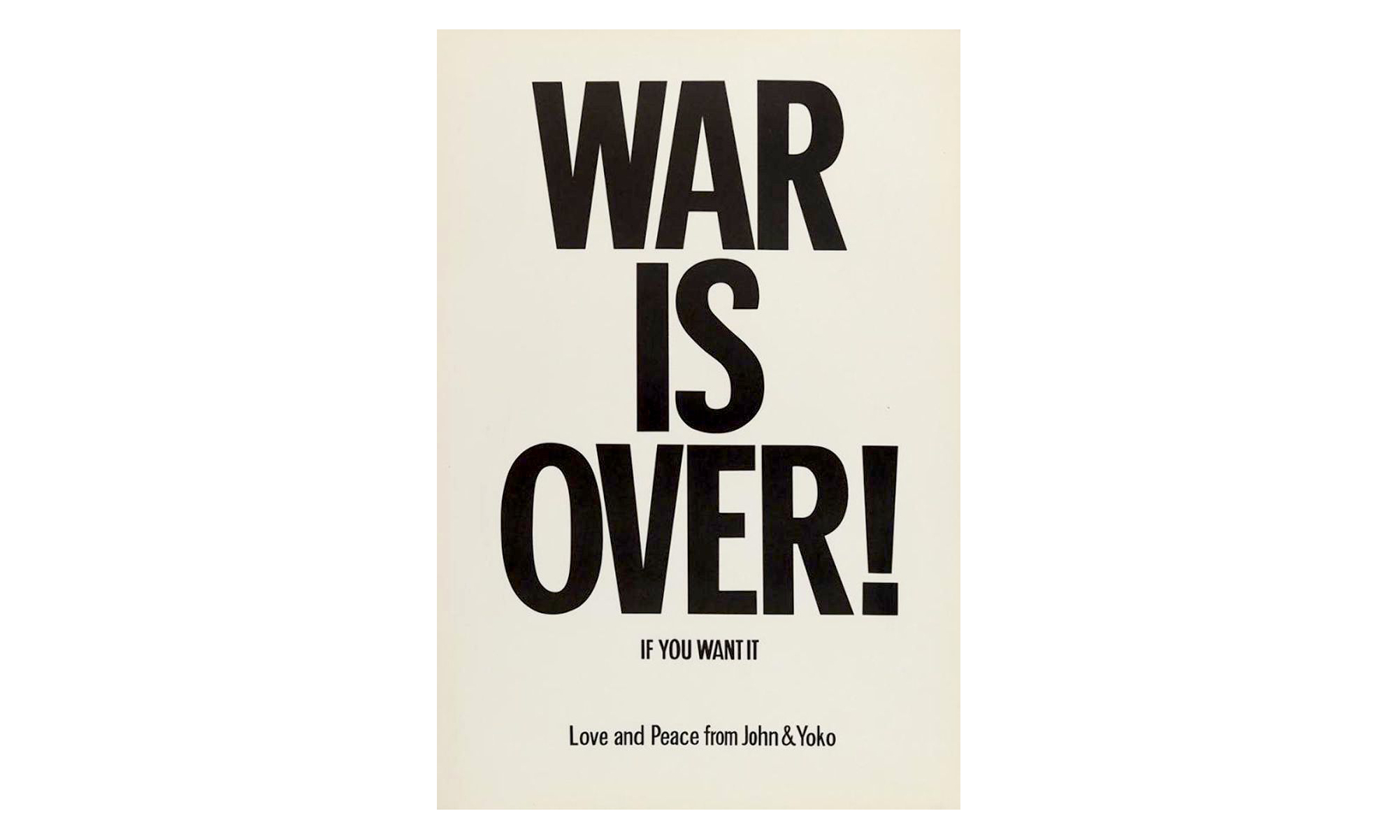 war is over poster