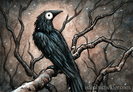 Black Bird Watercolour VII
