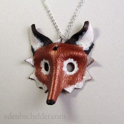 Fox mask pendant