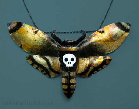 Death's head hawkmoth necklace
