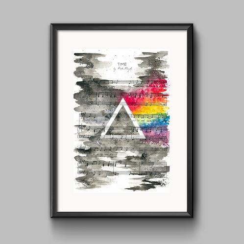 Pink Floyd 'Time' Print