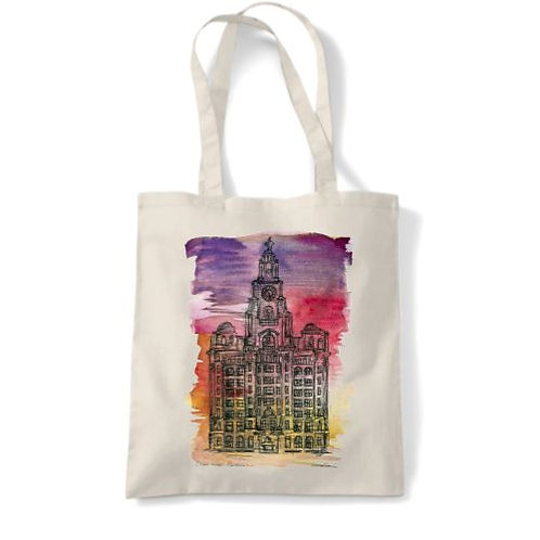 Liver Building Tote (Sunset)