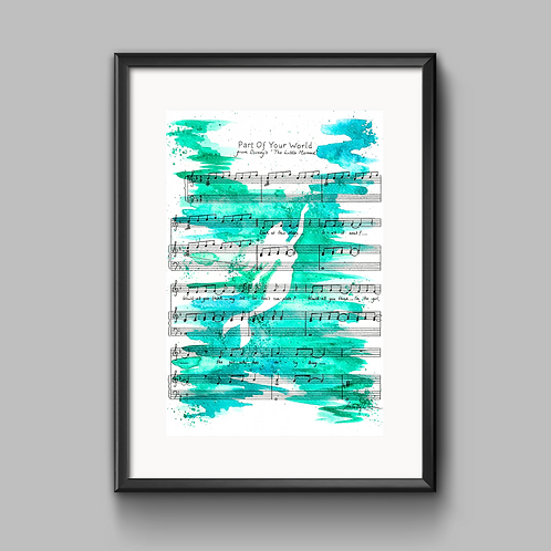 Part Of Your World (The Little Mermaid) Print