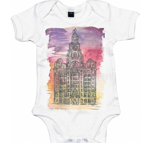 Liver Building Baby Grow (Sunset)