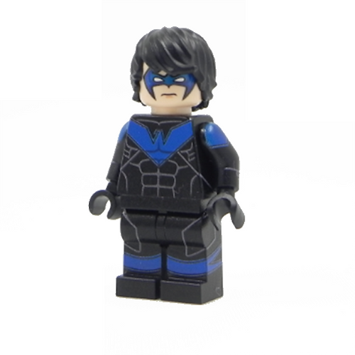 Nightwing Batman Arkham Lego Superhero Custom minifigure LEGO Arkham DC Justice