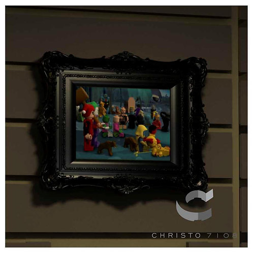 Christo Custom Fine Art Brick Painting - Sunday Evening Painting - LIMITED EDITI