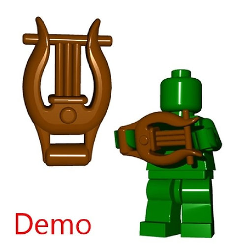 Brown Lyre HOBBIT Castle Greek Roman Music Instrument Weapon for brik minifigure
