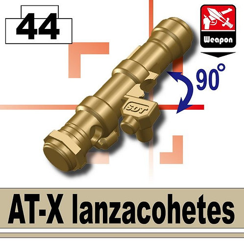 Tan Lanzacohetes AT-X rocket laucher bazooka RPG MC fig custom MOC DIY Afghan