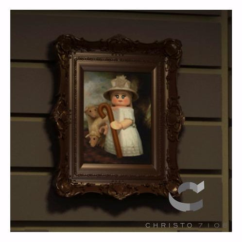 Christo Custom Fine Art Brick Painting - Little Bo-Brick Painting