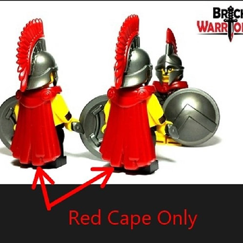 Custom Dark Red Spartan Cape Warrior Tippet Roman Infantry LOTR Castle Lego hero