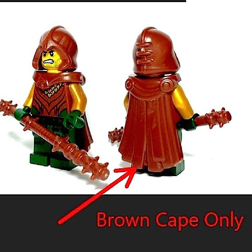 Woodland Brown Spartan Cape Warrior Greek Roman Mirkwood LOTR Castle Lego elf