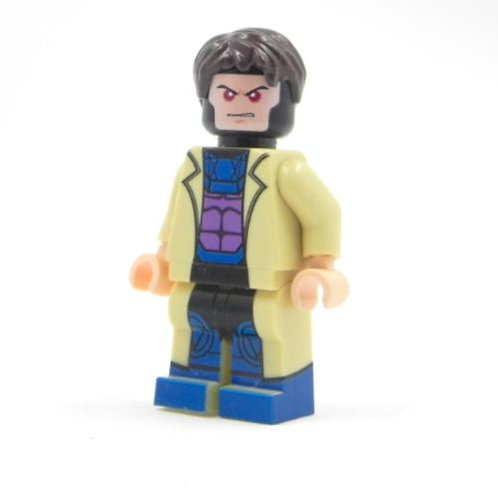 Custom Gambit minifigure - Real brik part - X-Men Origins Wolverine X Force