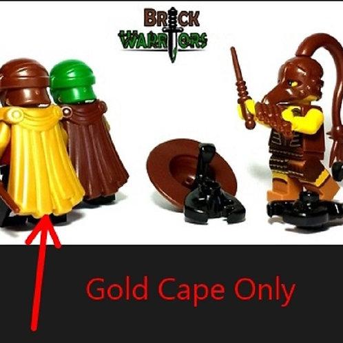 Custom Pearl Gold Spartan Cape Warrior 300 Roman Infantry LOTR Castle Lego