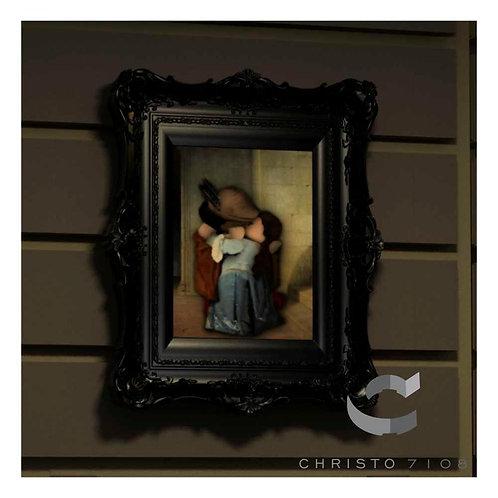 Christo Custom Fine Art Brick Painting - The Kiss Painting - LIMITED