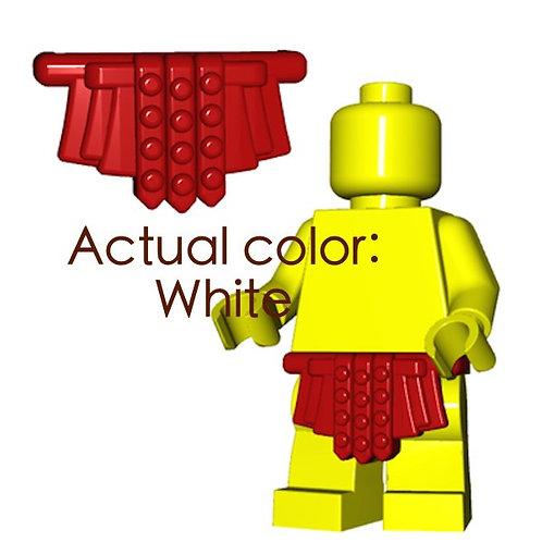 White Roman Skirt Castle Rome Greek Legion Gladiator custom brik minifigure part