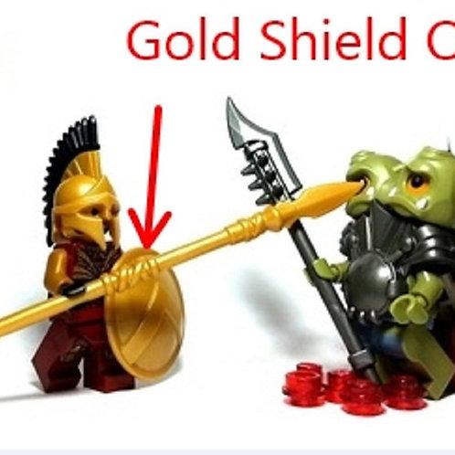 Custom Pearl Gold Spartan Shield for Lego minifig Castle 300 Troy Greek Warrior