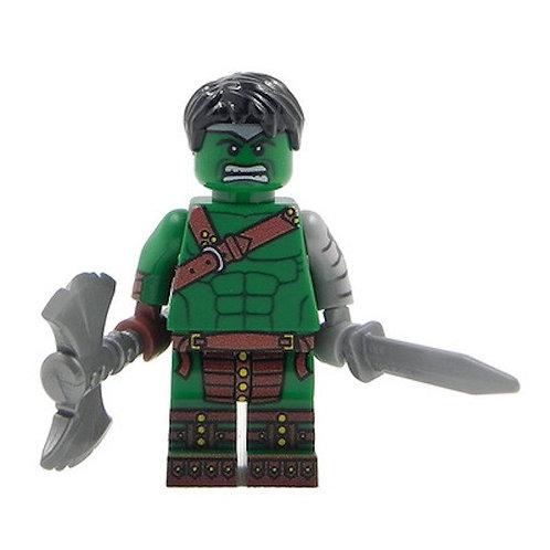 Hulk minifigure - Thor Ragnarok Superhero 76088 God Marvel