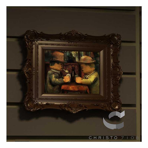 Christo Custom Fine Art Brick Painting - The Brick Gamblers Painting - LIMITED