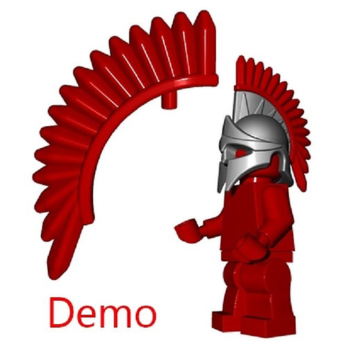 Dark Red Spartan Plume Castle Rome Greek Ancient Warrior 300 Lego figurine hair
