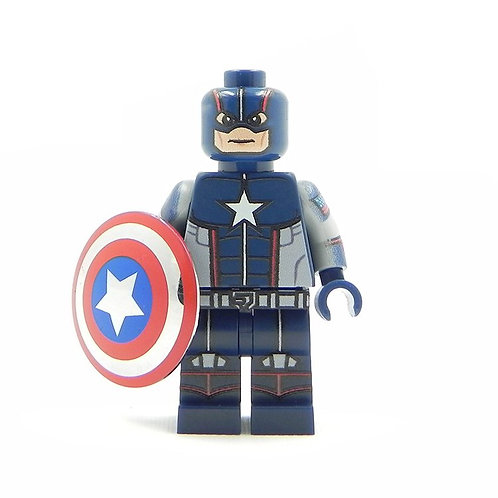 Captain America Secret war - Custom printed on Lego parts w chrome shield